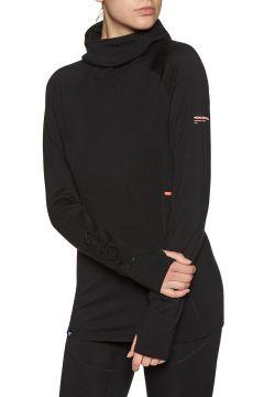 Top Seconde Peau Femme Mons Royale Olympus 3.0 Hood - Black(111332198)