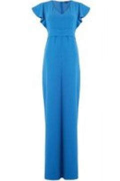 Emme Corona ruffle short sleeve jumpsuit - Cornflower(110458116)