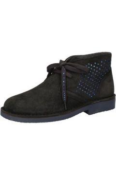 Boots Keys bottines gris daim bleu strass AE593(115399518)