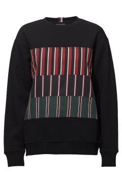 Hc Front Panel Insert Sweatshirt Sweat-shirt Pullover Schwarz HILFIGER COLLECTION(114151033)