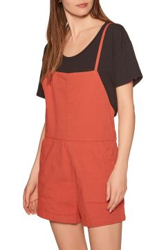 RVCA Johan Damen Playsuit - Hot Coral(110374323)