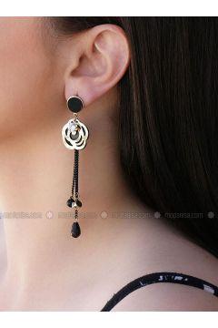 Black - Earring - Takıştır Bijuteri(110314518)