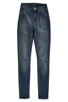 Jeans-Hose im used Look mit hoher Taille High Spray(112328485)