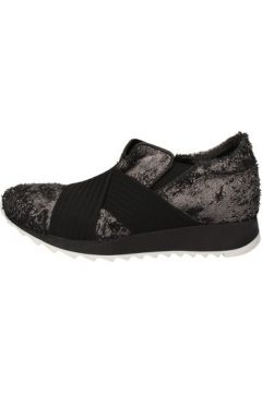 Chaussures Andia Fora sneakers argent textile noir cuir AD326(88470422)