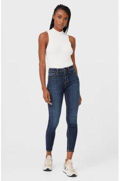 Stradivarius High waist skinny jeans DAMES Donkerjeans 32(116580370)