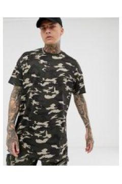 Liquor N Poker - Oversize-T-Shirt mit Military-Muster - Grün(93619314)