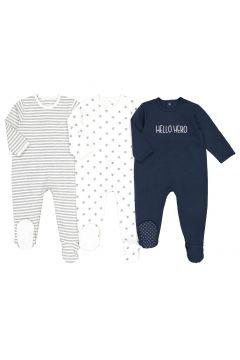 Lote de 3 pijamas 1 prenda de algodón, 0 meses - 3 años(108523043)