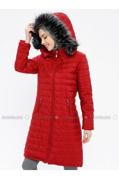 Red - Fully Lined - Polo neck - Puffer Jackets - EFE FERACE(110337663)