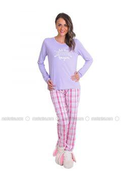 Lilac - Crew neck - Multi - Pyjama - Meliana(110314576)