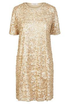 PIECES Sequins Robe Women beige(115794984)