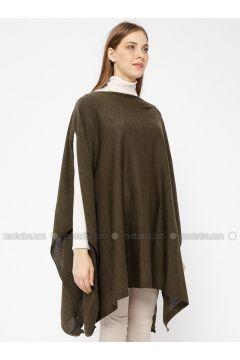 Khaki - Crew neck -- Cardigan - Meliana(110331037)