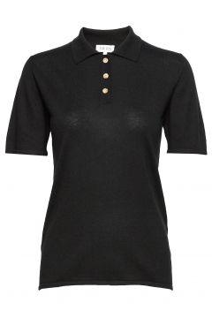 Woman Pique T-Shirts & Tops Polos Schwarz DAVIDA CASHMERE(104956268)