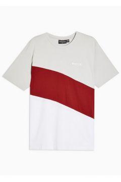 T-shirt blanc avec logo effet découpé par Nicce(110408247)