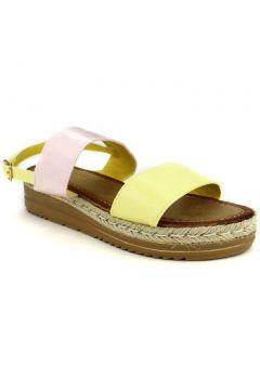 Espadrilles Cendriyon Compensées Jaune Chaussures Femme(115425759)