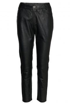 24 The Leather Pant Leather Leggings/Hosen Schwarz DENIM HUNTER(108574258)