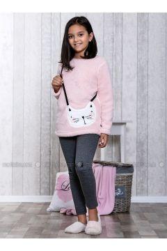 Pink - Crew neck - Multi - Kids Pijamas - Lingabooms(110313123)