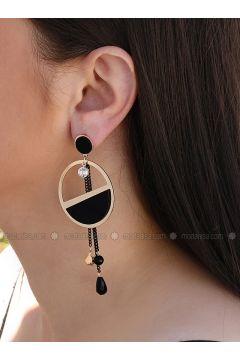 Black - Earring - Takıştır Bijuteri(110314517)
