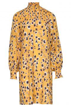 Leonorakb Dress Kleid Knielang Gelb KAREN BY SIMONSEN(109013561)