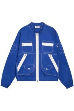 Blouson Andrea Crews Bomber patch pocket Jacket Blue(115483482)