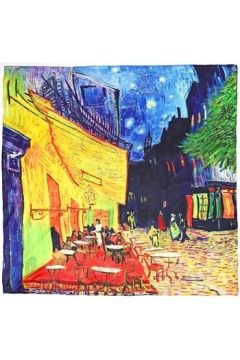 Echarpe Silkart Carré de soie Van Gogh Terrasse(98533404)