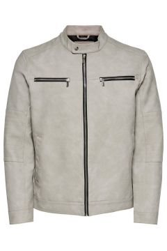 ONLY & SONS Faux Suède Jas Heren White(114576900)