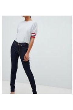 Oasis - Jeans skinny lavaggio grezzo con cuciture a contrasto-Blu(112790578)