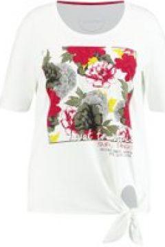 Statement-Shirt organic cotton Samoon Offwhite gemustert(111507206)
