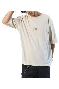 T-Shirt à Manche Courte Afends Distressed Oversized - Moonbeam(114065409)