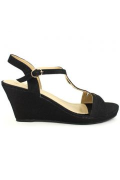 Espadrilles Cendriyon Compensées Noir Chaussures Femme(115425721)