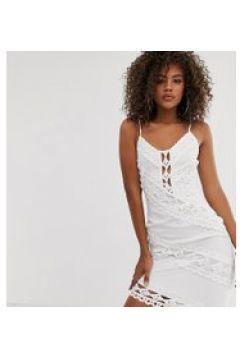 Missguided Tall - Minikleid aus weißer Spitze - Weiß(95024435)