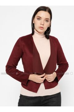 Plum - Unlined - Shawl Collar - Jacket - Pitti Collection(110322738)