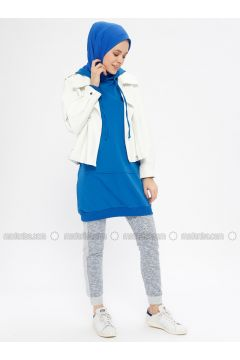 Blue - Tracksuit Bottom - Şımart(110332467)