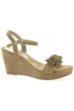 Sandales Elizabeth Stuart Nu pieds cuir velours sable(98530326)