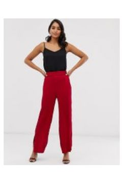 Closet - Hose mit weiten Beinen und Seitenschlitzen - Rot(94962979)