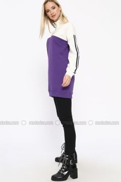 Cotton - Polo neck - Purple - Sweat-shirt - Missemramiss(110330911)