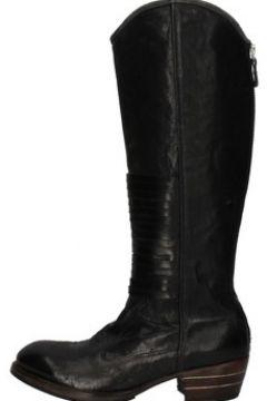 Bottes Moma bottes noir cuir AE234(115431443)