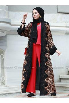 Black - Leopard - Abaya - AL SHEIKHA(110329959)