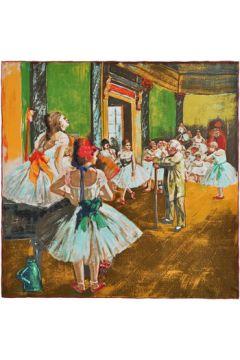 Echarpe Silkart Carré de soie Edgar Degas La classe de d(115427093)