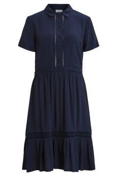 VILA Embroidered Midi Dress Dames Blauw(114504766)