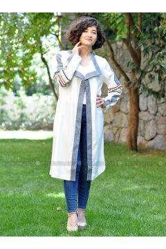 Ecru - Unlined - Jacket - Minimal Moda(110331179)