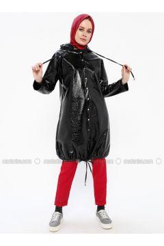 Black - Fully Lined - Coat - İroni(110339010)