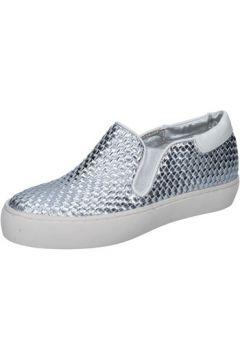 Chaussures Sara Lopez slip on mocassins argent cuir BY246(115400998)