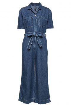 Utility Tie-Belt Jumpsuit Jumpsuit Blau GAP(109274164)
