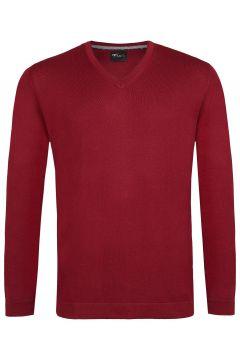 Venti - Pullover - Slim - V-Ausschnitt - Merino - pflaume(107866120)