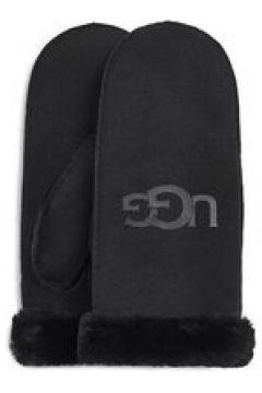 UGG Sheepskin Logo Moufles pour Femmes en Black, taille Petite/Moyenne   Shearling(112238887)