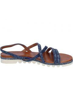 Sandales Femme Plus sandales bleu daim strass BT824(98485077)