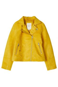 NAME IT Motard Daim Synthétique Veste Women yellow(109241672)