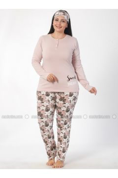 Pink - Crew neck - Multi - Pyjama - Elitol(110328415)