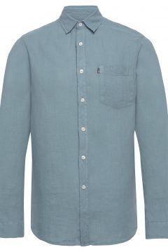 Ryan Linen Shirt Hemd Casual Blau LEXINGTON CLOTHING(114154225)