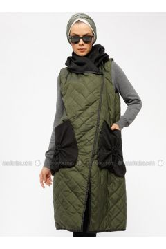 Green - Fully Lined - Vest - Miorespiro(110335490)